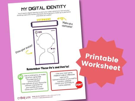 My Digital Identity (Printable Worksheet)