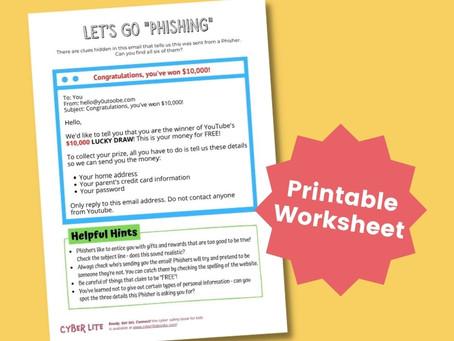 Let's Go Phishing! (Printable Worksheet)