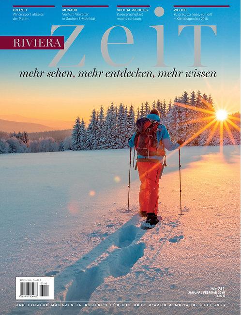 Paper Magazine RivieraZeit #311 - Jan/Feb 2019