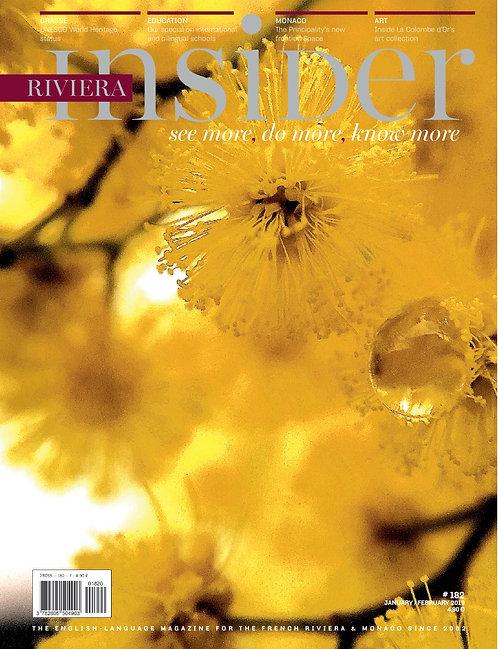 Magazine Riviera Insider n°182 - Janvier/Février 2019