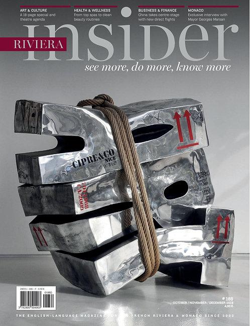 e-Magazine Riviera Insider n°186 - Octobre/Novembre/Décembre 2019