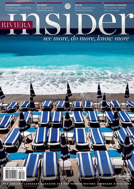 Magazine Riviera Insider n°189 - Juillet/Août 2020
