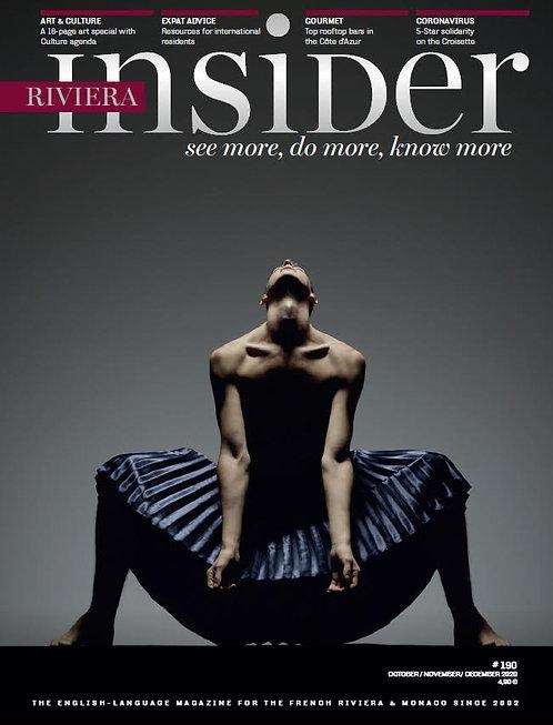 Paper Magazine Riviera Insider #190 - Oct / Nov / Dec 2020