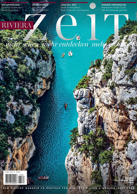 Magazine RivieraZeit n°318 - Juillet/Août 2020