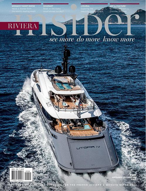 Magazine Riviera Insider n°180 - Septembre/Octobre 2018