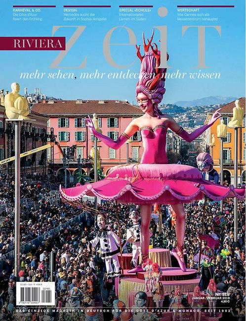 e-Magazine RivieraZeit n°316 - Janvier/Février 2020