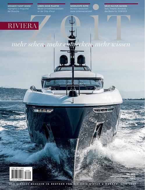 e-Magazine RivieraZeit n°309 - Septembre/Octobre 2018