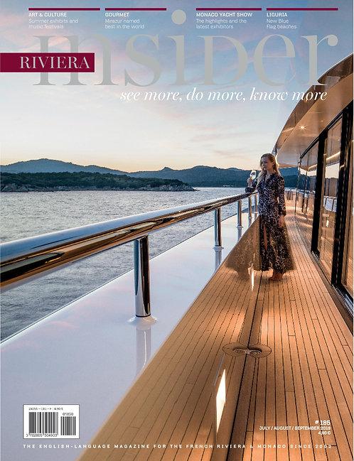 e-Magazine Riviera Insider n°185 - Juillet/Août/Septembre 2019
