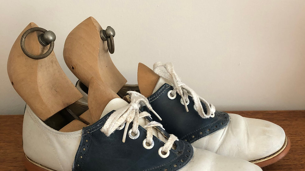Rare 1940's Saddle Shoes - Size 3 UK approx