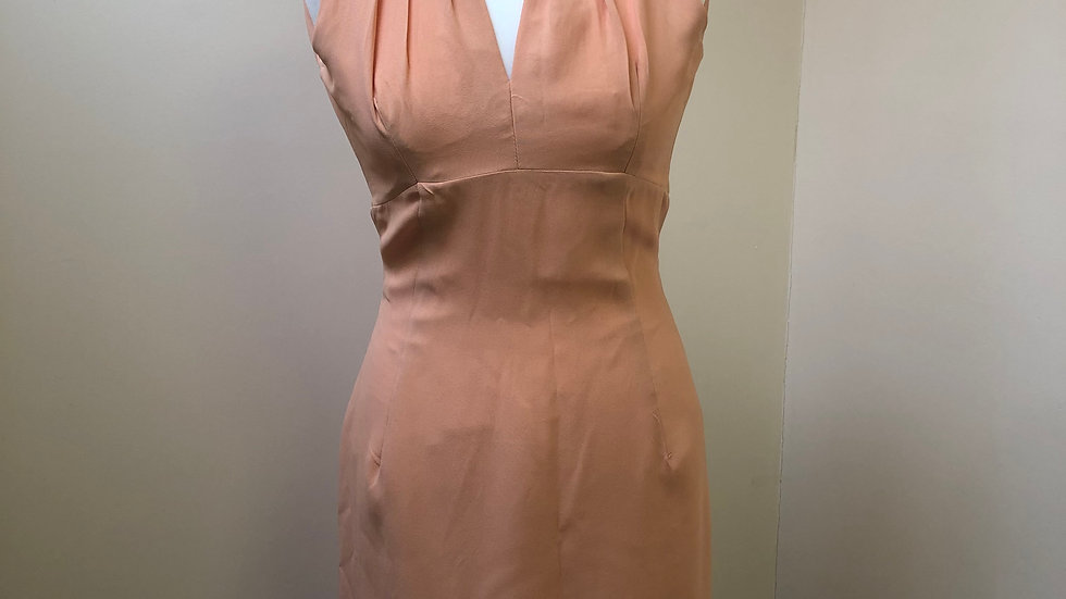 Beautiful 1960's Peach Carnegie Cocktail Dress
