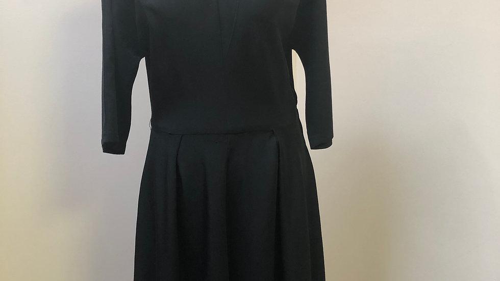 Classic 1940's Black Cocktail Dress by Brigitte