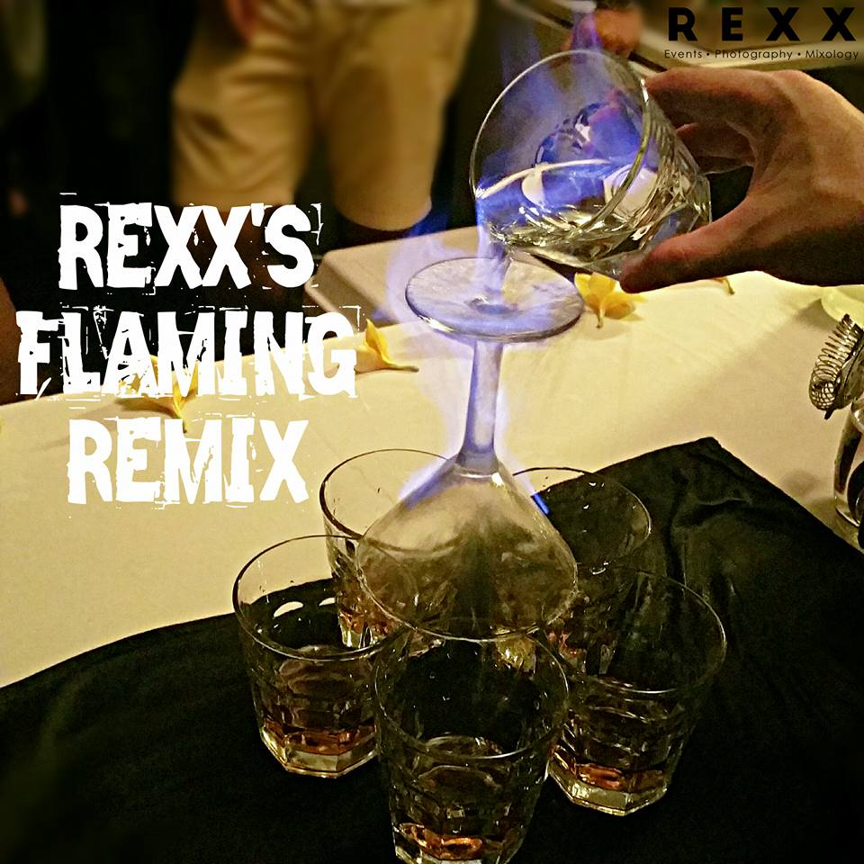 Bar Service with Flaming Drinks