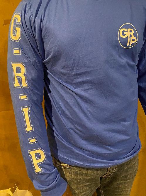 Men's Blue Long Sleeve Shirt