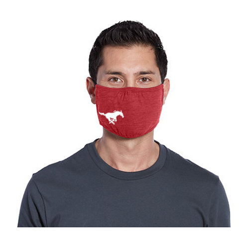 Crimson Middle Mustang Face Masks