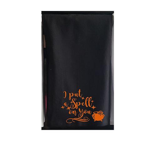 Halloween Black Kitchen Towels Orange design