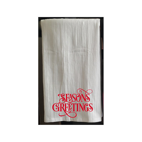 Christmas Holiday White Kitchen Towels