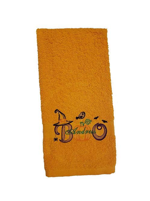 Halloween BOO Bathroom Hand Towel