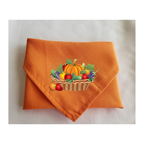Thanksgiving Orange Napkins Cute Designs