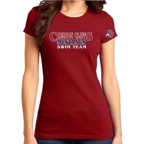 CCHS Swim Team Ladies Shirt