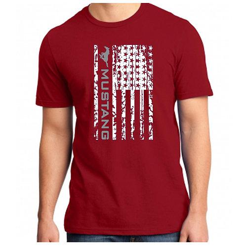 Mustang Football Flag Shirt