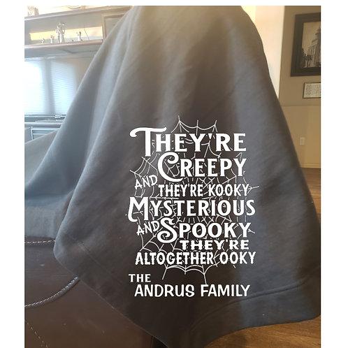"Halloween ""They're Creepy"" Family Blanket"