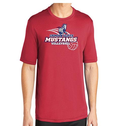 CCHS Volleyball Drifit Mustang Shirt