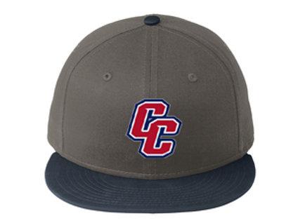 Crimson Middle New Era® - Flat Bill Snapback Cap