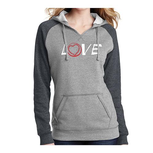 Washington Ladies Baseball Love Hoodie