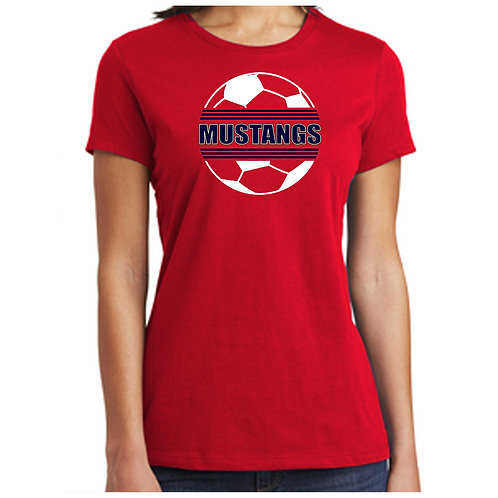 CCHS Soccer Ball Ladies Relaxed Soft Cotton Shirt