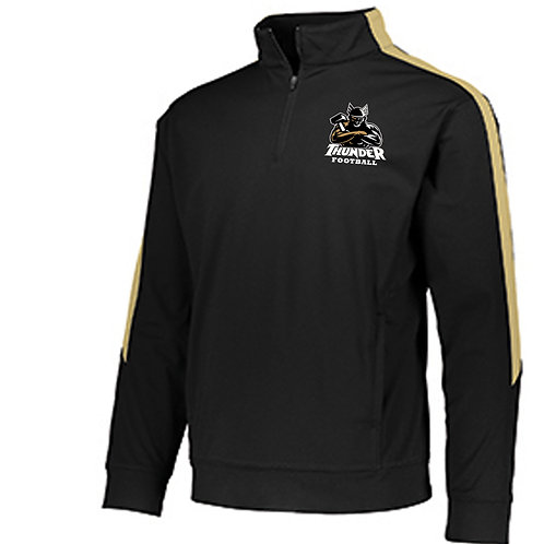 Football 1/4 zip embroidered long sleeve