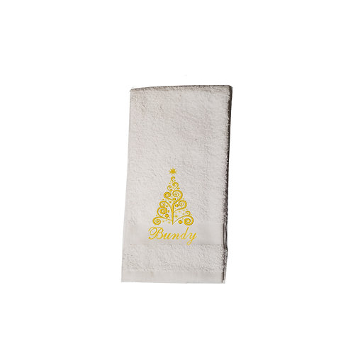 Christmas Tree Bathroom Hand Towel