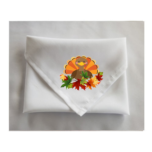 Thanksgiving White Napkins Cute Designs