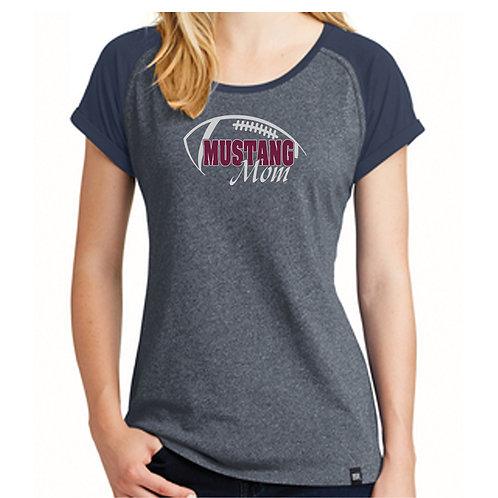 Ladies Heritage Mustang Mom Football Shirt