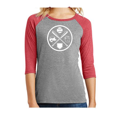 Washington Baseball Cross 3/4 Shirt
