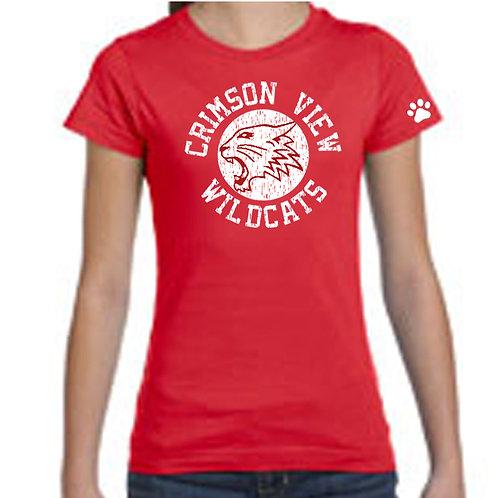 Crimson View Soft Cotton Girls Cut T