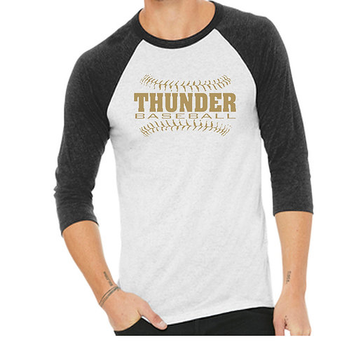 DHHS Thunder 3/4 Baseball shirt