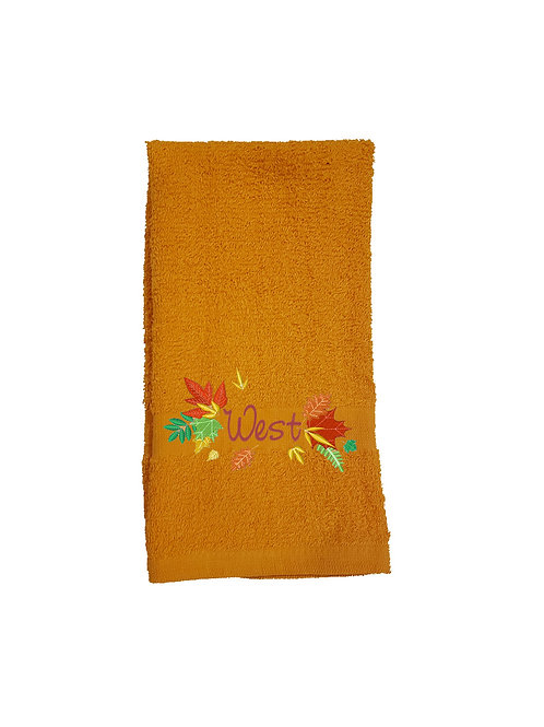 Thanksgiving Leaves Bathroom Hand Towel