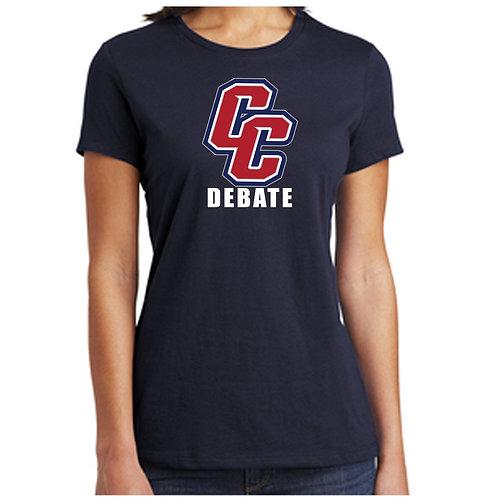 CCHS Debate Ladies Relaxed Soft Cotton Shirt