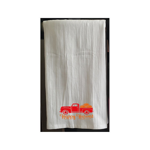 Thanksgiving White Kitchen Towels
