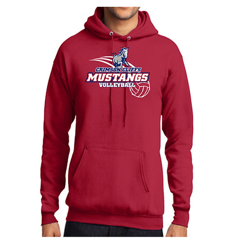 CCHS Volleyball Mustang Hoodie