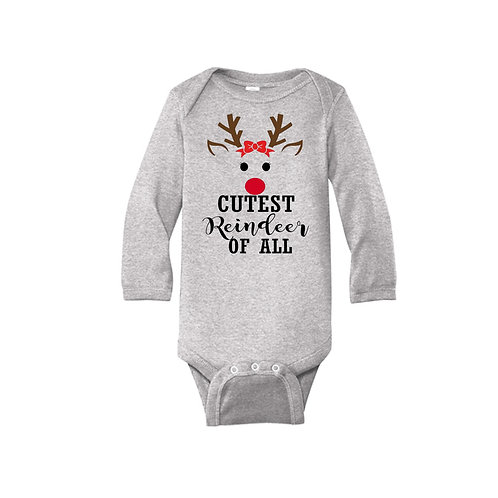 "Christmas ""Cutest Reindeer of All"" Onesie/Toddler T"