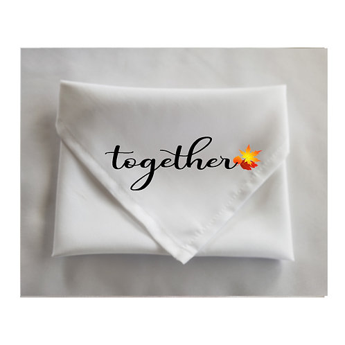 Thanksgiving White Napkins Inspirational Words