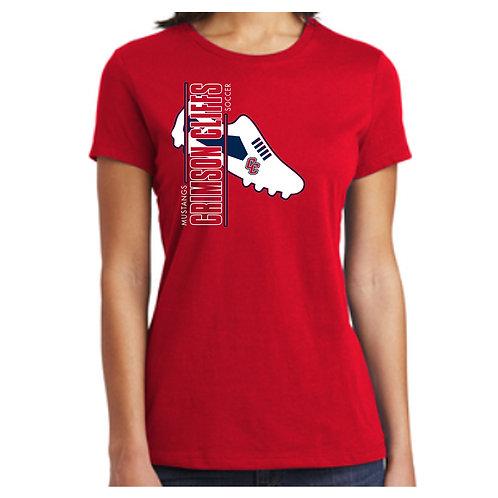 CCHS Soccer Shoe Ladies Tee Shirt