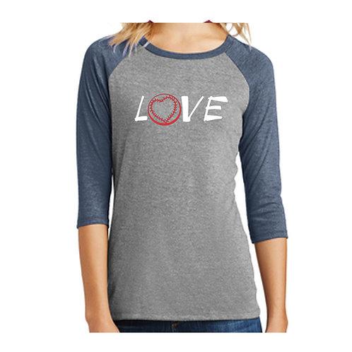 Washington Love Baseball 3/4 Shirt