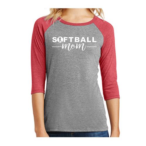 Washington Softball Mom 3/4 Shirt