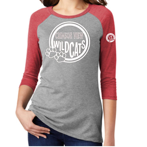 Crimson View 3/4 Sleeve Shirt (Adult Sizes Only)