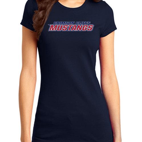 Crimson Middle Mustang Ladies Shirt