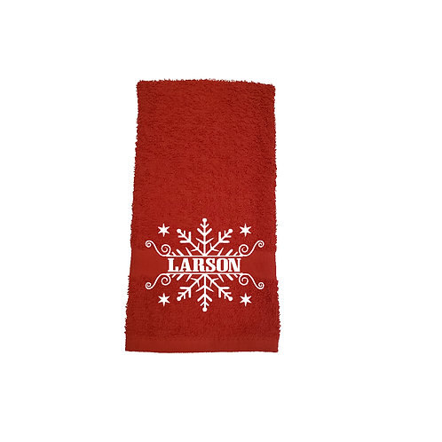 Christmas Snowflake Bathroom Hand Towel