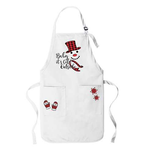 "Christmas Apron ""Baby It's Cold Outside"""