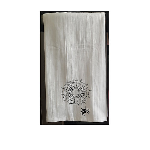 Halloween White Kitchen Towels Black design